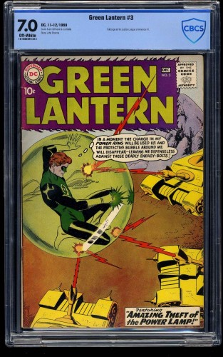 Green Lantern #3 CBCS FN/VF 7.0 Off White