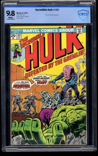 Incredible Hulk #187 CBCS NM/M 9.8 White Pages