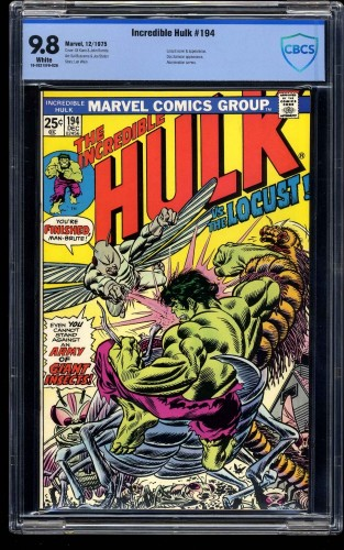 Incredible Hulk #194 CBCS NM/M 9.8 White Pages