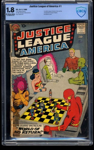 Justice League of America #1 CBCS GD- 1.8 Off White to White
