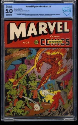 Marvel Mystery Comics #24 CBCS VG/FN 5.0 Off White (Restored)