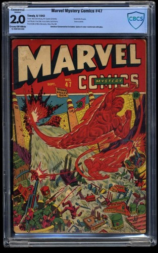 Marvel Mystery Comics #47 CBCS GD 2.0 Cream To Off White (Restored)