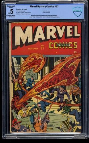 Marvel Mystery Comics #67 CBCS P 0.5 Off White to White (Restored)