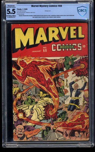 Marvel Mystery Comics #68 CBCS FN- 5.5 Off White to White (Restored)