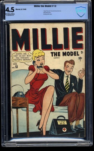 Millie the Model #13 CBCS VG+ 4.5 Off White to White