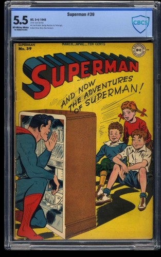 Superman #39 CBCS FN- 5.5 Off White to White