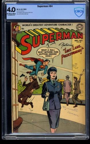 Superman #84 CBCS VG 4.0 Off White to White