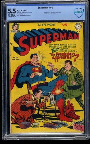 Superman #69 CBCS FN- 5.5 Off White