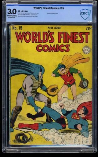 World's Finest Comics #15 CBCS GD/VG 3.0 Off White to White