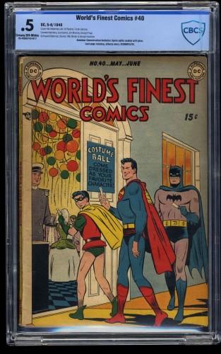 World's Finest Comics #40 CBCS P 0.5 Cream To Off White