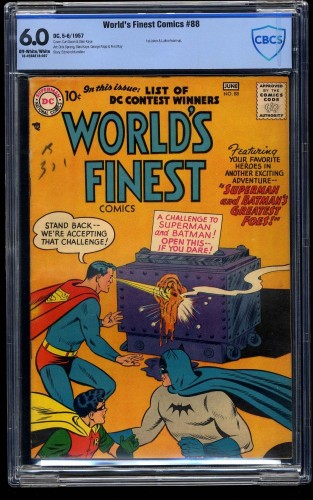 World's Finest Comics #88 CBCS FN 6.0 Off White to White