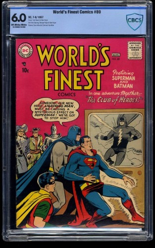 World's Finest Comics #89 CBCS FN 6.0 Off White to White