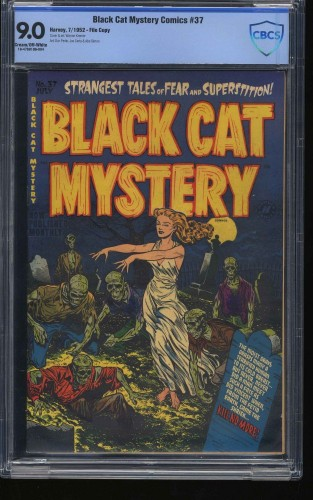Black Cat Mystery Comics #37 CBCS VF/NM 9.0 Cream To Off White