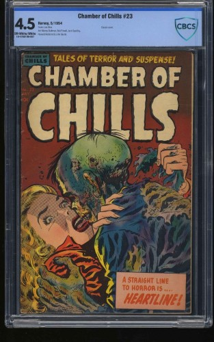 Chamber of Chills #23 CBCS VG+ 4.5 Off White to White Classic PCH Cover!