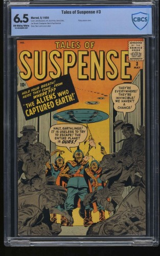 Tales of Suspense #3 CBCS FN+ 6.5 Off White to White