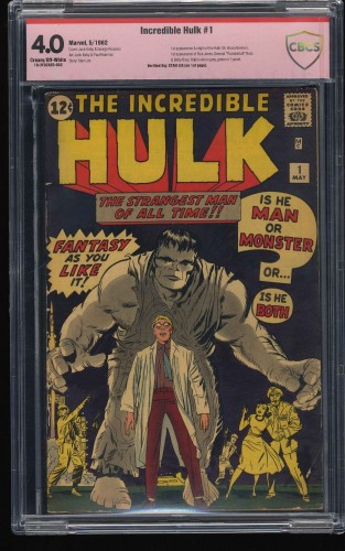 Incredible Hulk (1962) #1 CBCS VG 4.0 Cream To Off White