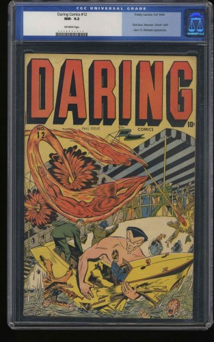 Daring Comics #12 CGC NM- 9.2 Off White