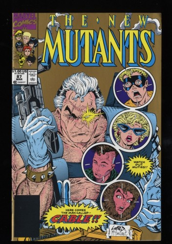 New Mutants #87 FN/VF 7.0 1st Cable!