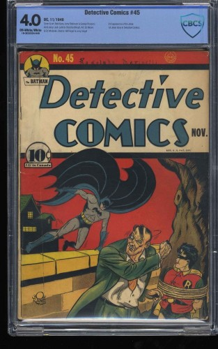 Detective Comics #45 CBCS VG 4.0 Off White to White