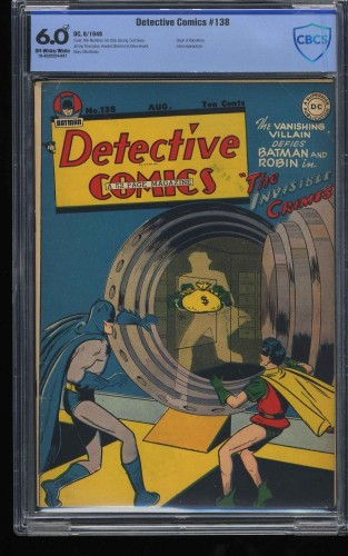 Detective Comics #138 CBCS FN 6.0 Off White to White