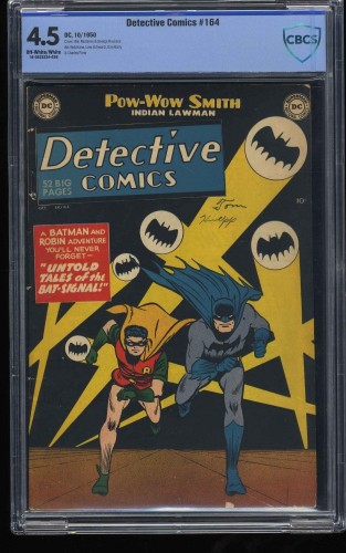 Detective Comics #164 CBCS VG+ 4.5 Off White to White