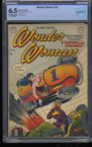 Wonder Woman #42 CBCS FN+ 6.5 Off White to White