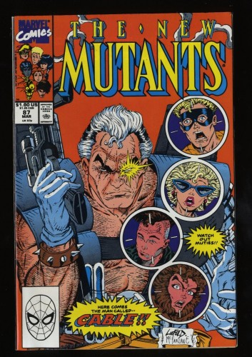 New Mutants #87 VF/NM 9.0 1st Cable!