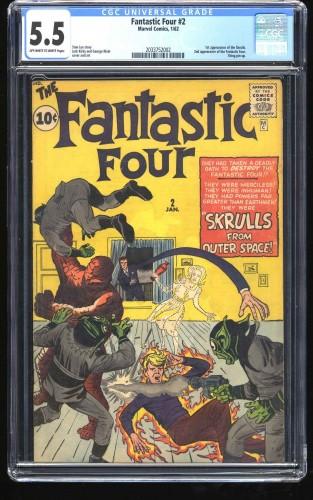 Fantastic Four #2 CGC FN- 5.5