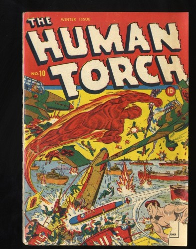 Human Torch #10 Front Cover Only