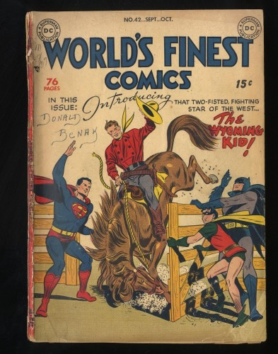 World's Finest Comics #42 GD 2.0 INCOMPLETE