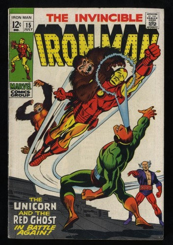 Iron Man #15 FN- 5.5