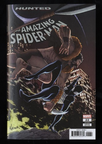 Amazing Spider-Man #22 NM 9.4 1:25 Aaron Kuder Variant Marvel Comic Book Hunted