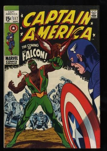 Captain America #117 FN 6.0 1st Falcon!