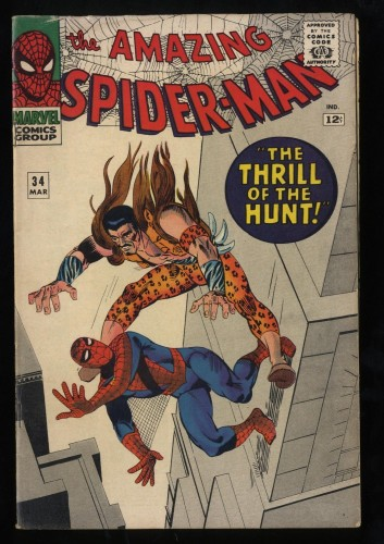 Amazing Spider-Man #34 VG 4.0 Kraven the Hunter!