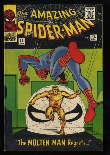 Amazing Spider-Man #35 VF+ 8.5 Meteor Man!