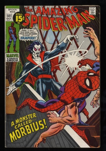 Amazing Spider-Man #101 VG/FN 5.0 1st Morbius!