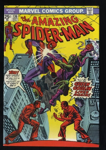 Amazing Spider-Man #136 NM+ 9.6 White Pages Classic Green Goblin Cover!