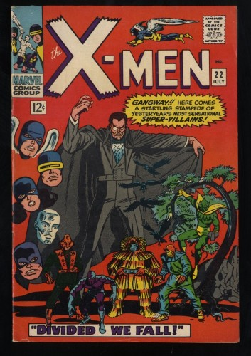 X-Men #22 FN/VF 7.0 White Pages