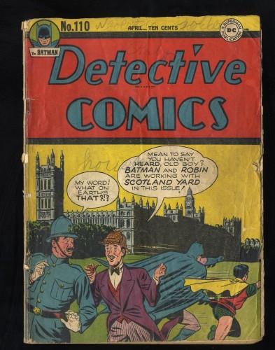 Detective Comics #110 Fair 1.0