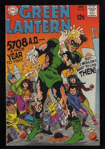 Green Lantern #66 FN/VF 7.0 White Pages