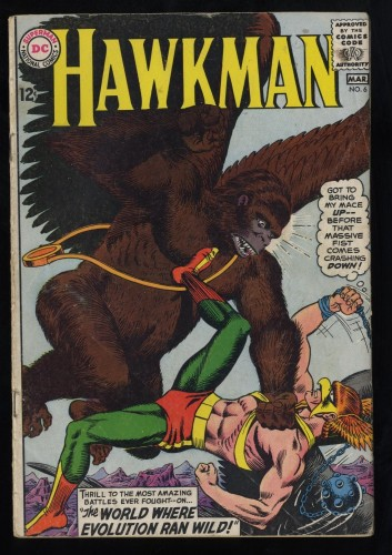 Hawkman #6 GD/VG 3.0