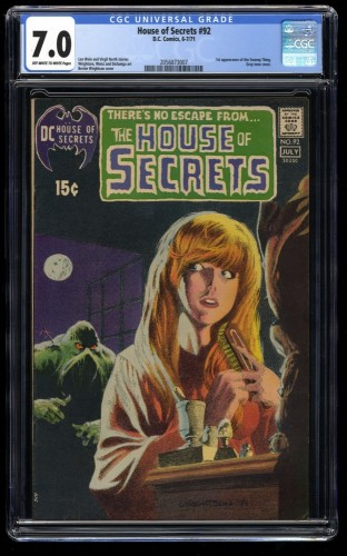 House Of Secrets #92 CGC FN/VF 7.0 Off White to White DC Comics 1st Swamp Thing!
