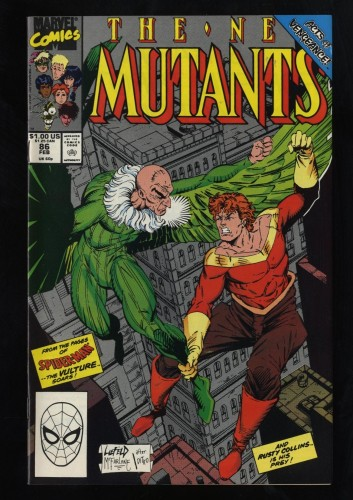 New Mutants #86 NM- 9.2 White Pages 1st Cable Cameo Liefield!