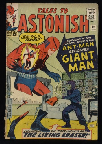 Tales To Astonish #49 FA/GD 1.5 Ant Man becomes Giant Man!