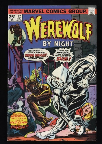 Werewolf By Night #32 FN/VF 7.0 White Pages 1st Moon Knight!