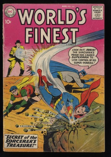 World's Finest Comics #103 GD- 1.8