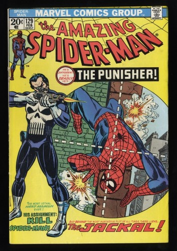 Amazing Spider-Man #129 FN 6.0 White Pages 1st Punisher!
