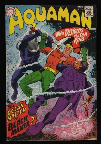 Aquaman #35 VG 4.0 1st Black Manta!