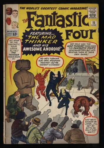 Fantastic Four #15 FA/GD 1.5 1st Mad Thinker!