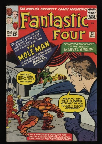 Fantastic Four #22 FN+ 6.5 White Pages
